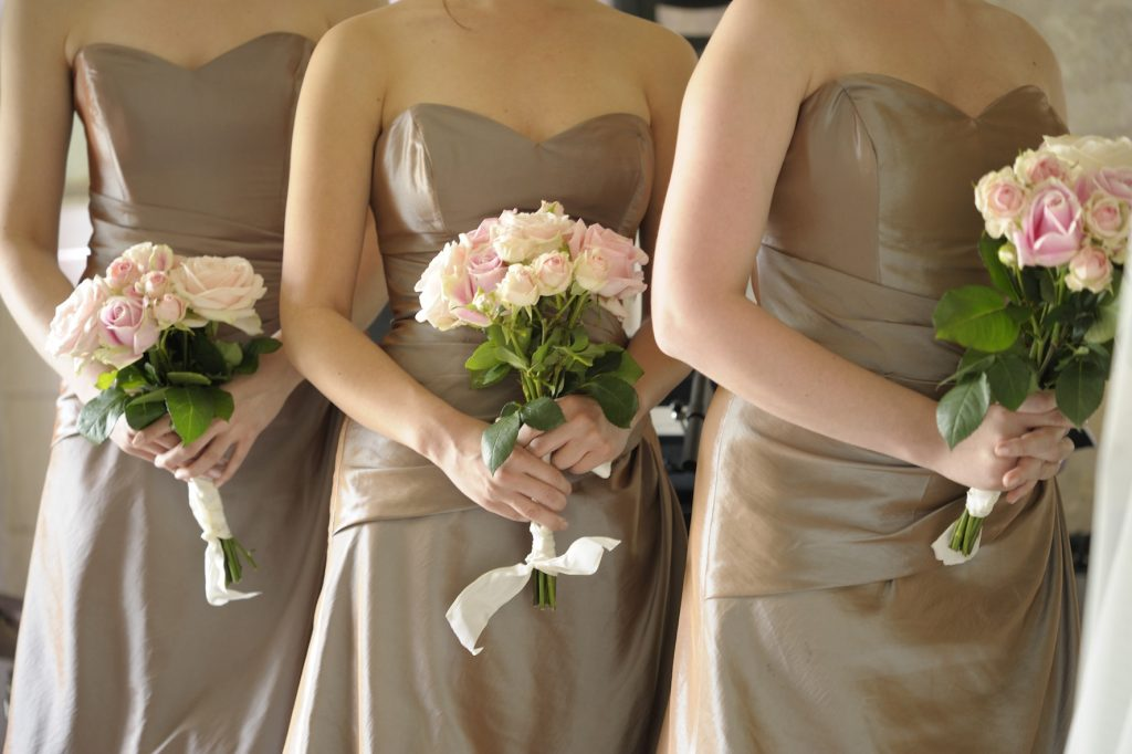 Light Pink Rose Bridesmaids Bouquet