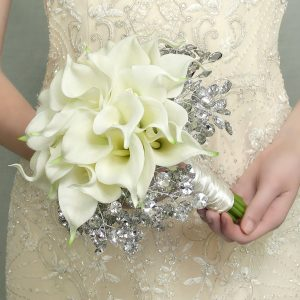 White Calla Bridesmaid Bouquet