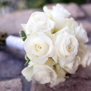 White Rose Bridesmaids Bouquet